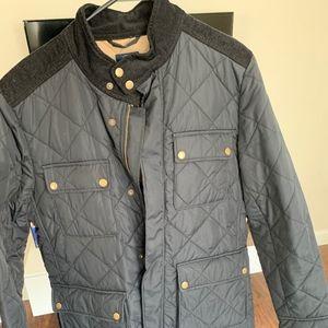 J-Crew Black Quilted Greyson Jacket Medium
